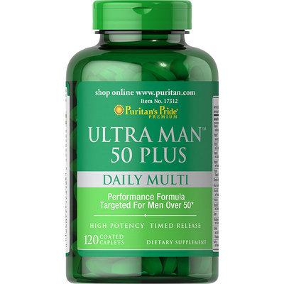 Puritan's Pride Ultra Vita Man 50 Plus-120 Caplets