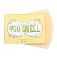 You Smell Luxury Paper Soap, Lemon Verbena, 25 ea