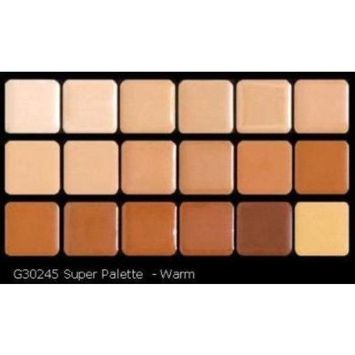 Graftobian HD Glamour Creme Super Palette, Warm