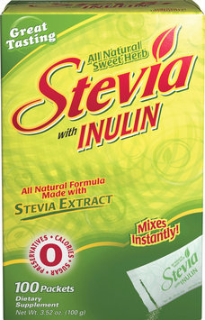 Herbal Authority; 2 Units of Stevia with Fiber-100-Packets