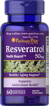 Puritan's Pride 2 Units of Resveratrol 50 mg-60-Softgels