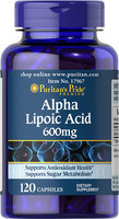 Puritan's Pride 2 Units of Alpha Lipoic Acid 600 mg-120-Capsules
