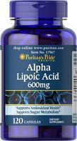 Puritan's Pride 2 Units of Alpha Lipoic Acid 600 mg-120-Capsules