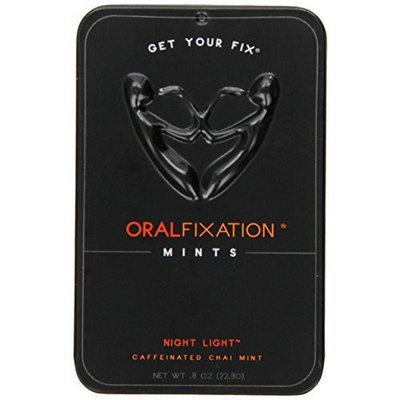 Oral Fixation Mints Night Light, Caffeinated Chai Mint, 0.8-Ounce Tins (Pack of 12)