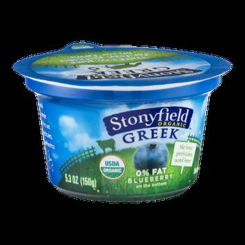 Stonyfield Organic Greek Nonfat Yogurt Blueberry