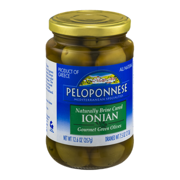 Peloponnese Cured Gourmet Green Olives Ionian