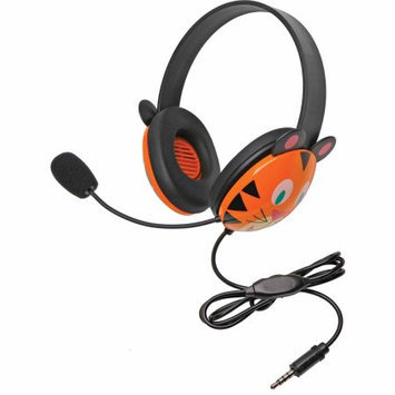 Califone Stereo Headset, Tiger w/ Mic 3.5mm Plug Via Ergoguys - Stereo - Mini-phone - Wired - 32 Ohm - 20 Hz - 20 kHz - Nickel Plated - Over-the-head - Binaural - Supra-aural - 5.50 ft Cable - Electret Microphone