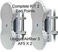 Ubiquiti Airfiber AF5 KIT 2 End Points mid-band 5GHz 1.2+Gbps upto100+km PTP