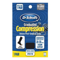 Dr. Scholl's Firm Graduated Compression Post-Surgical Open Toe Sock XL