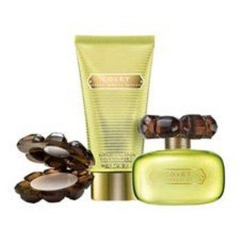 Covet By Sarah Jessica Parker For Women. Gift Set ( Eau De Parfum Spray 3.4 Oz + Rich Body Lotion 2.5 Oz + Solid Perfume Compact 2.2 Grams).