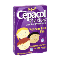 Cepacol Fizzlers Sore Throat Grape Flavor Tablets