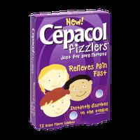 Cepacol Fizzlers Sore Throat Grape Flavor Tablets