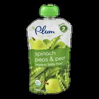 Plum Organics Spinach Peas & Pear Organic Baby Food