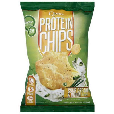 Quest Sour Cream & Onion Flavor Protein Chips, 1.125 oz, (Pack of 12)