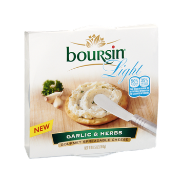 Boursin Light Garlic & Herbs Gourmet Spreadable Cheese