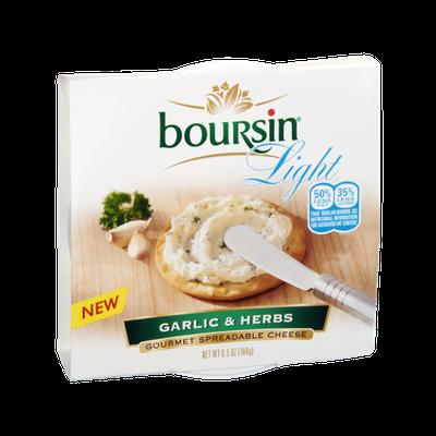 Boursin Light Garlic & Herbs Gourmet Spreadable Cheese