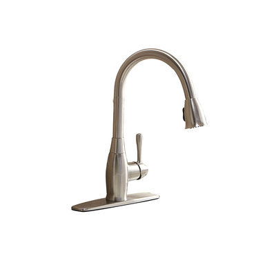 AquaSource Brushed Nickel 1-Handle Pull-Down Kitchen Faucet FP4A4057NP