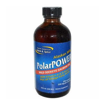 North American Hreb & Spice North American Herb and Spice PolarPower Wild Sockeye Salmon Oil 8 fl oz