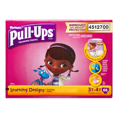 Pull-Ups Training Pants Learning Designs for Girls, 3T-4T