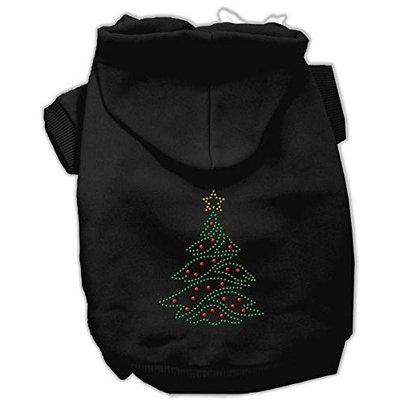 Mirage Pet Products 542505 XXLBK Christmas Tree Hoodie Black XXL 18