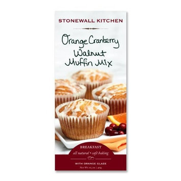 Stonewall Kitchen Walnut Muffin Mix, Orange Cranberry, 13-Ounce (Pack of 3)