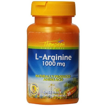 Thompson L-Arginine Tablets, 1000 Mg, 30 Count (Pack of 2)