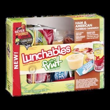 Lunchables with Fruit Flatbread Sandwich Ham & American