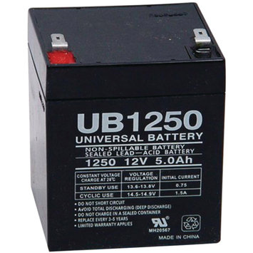 Universal Studios UPG 85983/D5741 SEALED LEAD ACID BATTERIES (12V 5AH .187 TAB TERMINALS UB1250)
