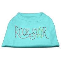Mirage Pet Products 5273 MDAQ RockStar Rhinestone Shirts Aqua M 12
