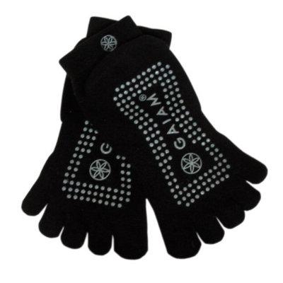 Gaiam Grippy Yoga Socks, Gray, Medium/Large, 1 ea