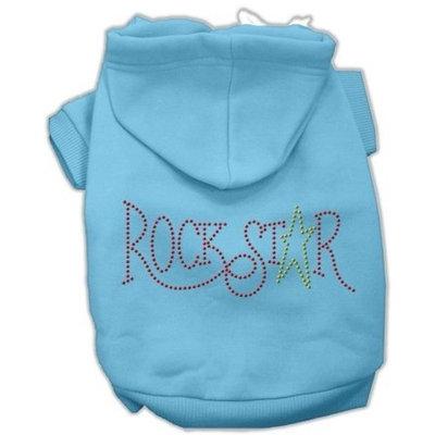 Mirage Dog Supplies Rock Star Rhinestone Hoodies Baby Blue S (10)