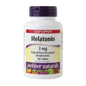 Webber Naturals Melatonin 3mg, Tablets, 160 ea