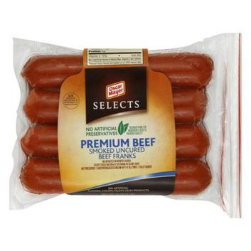 Oscar Mayer Oscar Meyer Premium Smoked Cured Beef Franks 16 oz