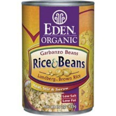 Eden Organic Brown Rice & Chick Peas, 15-Ounce Cans (Pack of 12) ( Value Bulk Multi-pack)
