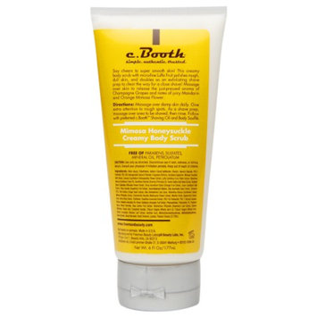 c. Booth Creamy Body Scrub, Mimosa Honeysuckle, 6 fl oz