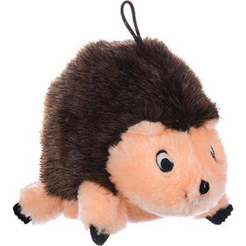 Krislin Brown Hedgehog Plush Dog Toy