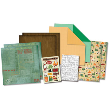 Karen Foster Design, Llc. Karen Foster Camping Adventures Scrapbook Page Kit, 12