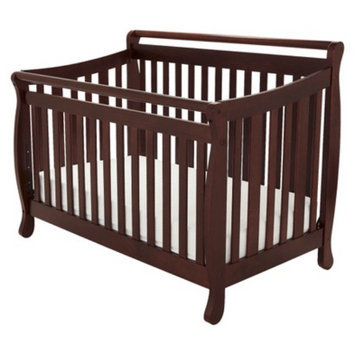 Athena Mikaila Amy 3-in-1 Convertible Crib with Toddler Rail - Cherry