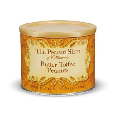 The Peanut Shop of Williamsburg Butter Toffee Peanuts, 11.5-Ounce Tins (Pack of 2)