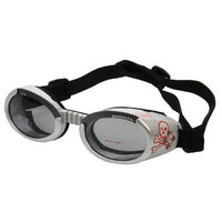 Doggles Dog Goggles ILS Skull and Cross Bones Frame / Smoke Lens Large