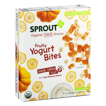 Sprout Organic Toddler Snacks Yogurt Bites Banana Pumpkin Yogurt