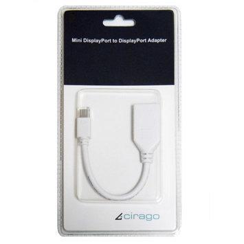 Cirago Mini DisplayPort to DisplayPort Adapter, White