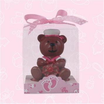De Yi Enterprise De Yi 11005-PK Sailor Bear Candle Favors in Pink