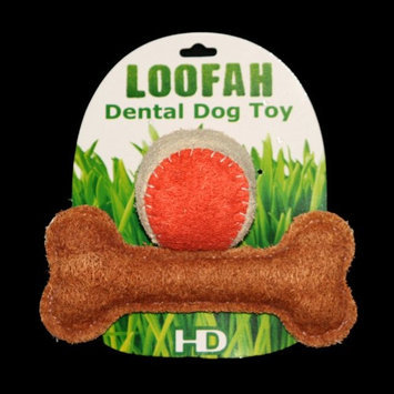 Hip Doggie HD-8LPTST USDA Certified Organic Loofah Dental Toy -Large Playtime Combo