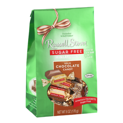 Russell Stover Miniatures Sugar Free Solid Chocolate Candy