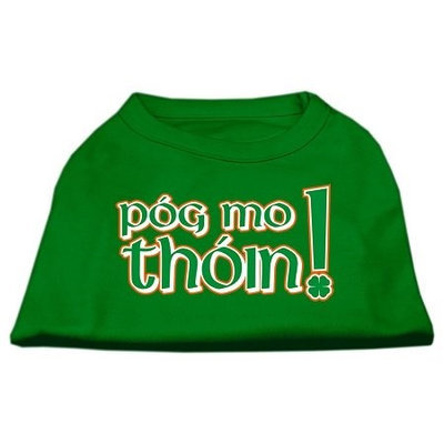 Mirage Pet Products 51-63 MDEG Pog Mo Thoin Screen Print Shirt Emerald Green Med - 12