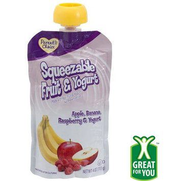Parents Choice Apple, Banana, Raspberry Yogurt