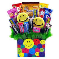 Sweets in Bloom Smile! - Smiley Face Suckers and Candy Bouquet