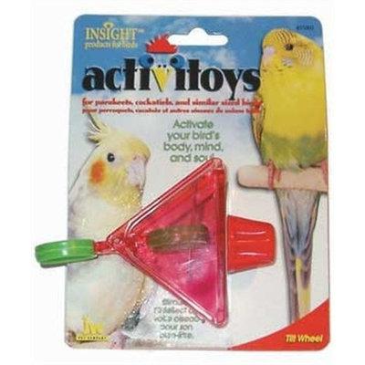 JW Pet Company Activitoy Tilt Wheel Small Bird Toy, Colors Vary