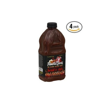 Famous Dave's Bloody Mary Mix Devils Spit, 64-ounces (Pack of 4)